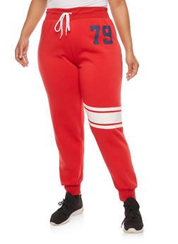 Plus Size 79 Graphic Sweatpants - 1951038340779