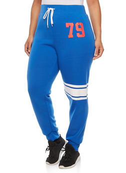 Plus Size 79 Graphic Sweatpants - 1951038340779