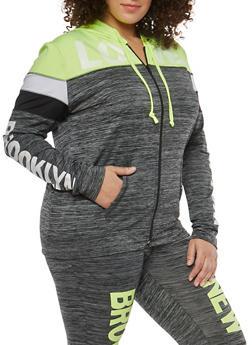 Plus Size Love New York Graphic Active Sweatshirt - 1951038340808