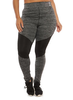 Plus Size Color Block Active Leggings - 1951038340820