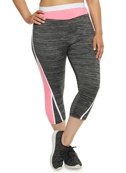 Plus Size Activewear Capri Leggings - 1951038341777