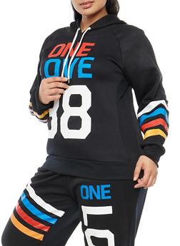 Plus Size One Love Graphic Sweatshirt - 1951038342710