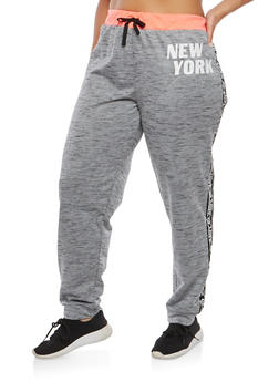 Plus Size Graphic Sweatpants - 1951038342858