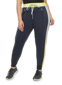 Plus Size Love Graphic Sweatpants - 1951051063550