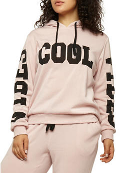 Plus Size Cool Vibes Graphic Sweatshirt - 1951051066133