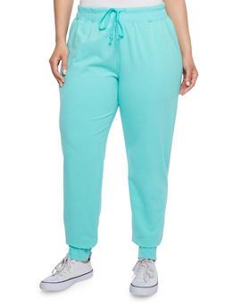 Plus Size Drawstring Sweat Pants - 1951054265403