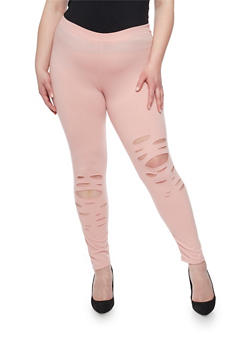 Plus Size Lasercut Leggings - 1951058932260
