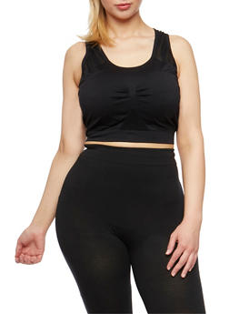 Plus Size Activewear Cropped Tank Top - 1951061630049