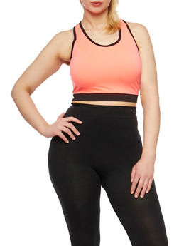 Plus Size Activewear Cropped Tank Top - 1951061630889