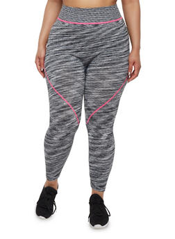 Plus Size Activewear Space Dye Leggings - 1951061636609