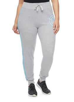 Plus Size Flawless Love Graphic Joggers - 1951063400617