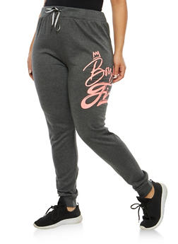 Plus Size Graphic Print Sweatpants - 1951063406233