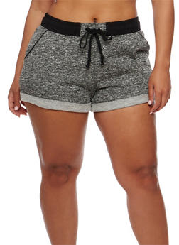Plus Size Cuffed Sweat Shorts - 1960054268554