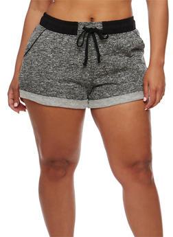 Plus Size Cuffed Sweat Shorts - 1960054268554