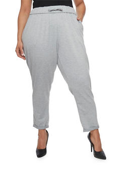 Plus Size French Terry Cuffed Sweatpants - 1961051063472