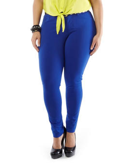 Plus-Size Like an Angel Lightweight Colored Jeggings,ROYAL BLUE,medium