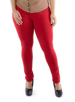Plus-Size Like an Angel Lightweight Colored Jeggings,RED,medium