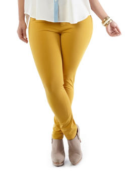 Plus-Size Like an Angel Lightweight Colored Jeggings,MUSTARD,medium