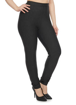 Plus Size High Waisted Ponte Knit Skinny Pants - 1961060580028
