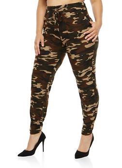 Plus Size Camo Print Sweatpants - 1961060580074