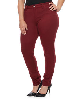 Plus Size Five Pocket Jeggings - 1961060580462