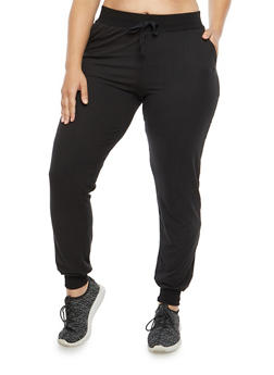 Plus Size Soft Knit Sweatpants - 1961060581250