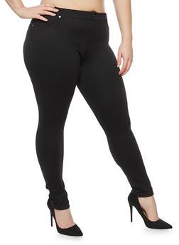 Plus Size Cuffed Knit Pants - 1961062701537