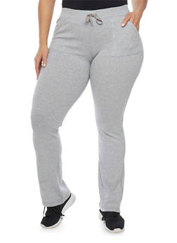 Plus Size French Terry Drawstring Sweatpants - 1961062706222