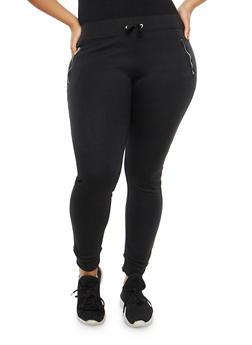 Plus Size Fleece Lined Sweatpants - 1961062708883