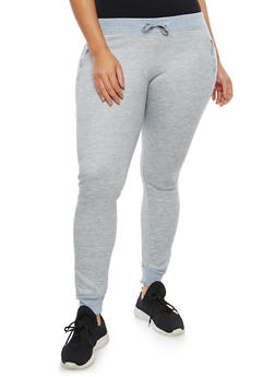 Plus Size Fleece Lined Sweatpants - 1961062708883