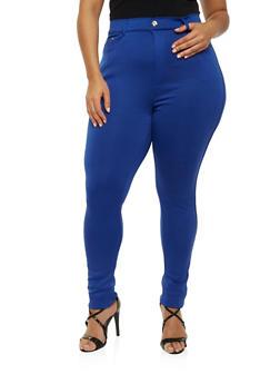 Plus Size Scuba Knit Pants - 1961072716763