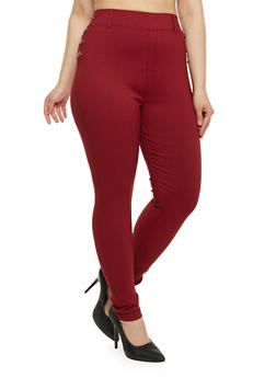 Plus Size Sailor Pants in Skinny Fit - 1961072716776