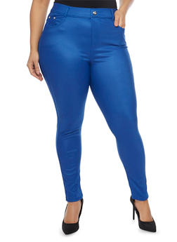 Plus Size High Waisted Jeggings - 1961072716944