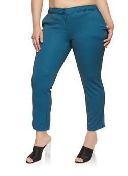 Plus Size Printed Dress Pants - 1961074288100