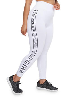 Plus Size Flawless Graphic Leggings - 1965061630005