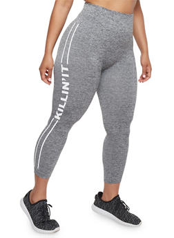 Plus Size Killin It Graphic Leggings - 1965061630006