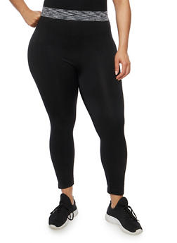 Plus Size Push Up Activewear Leggings - 1965061630181