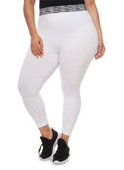 Plus Size Push Up Activewear Leggings - 1965061630181