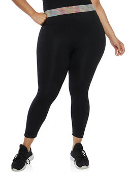 Plus Size Push Up Capri Activewear Leggings - 1965061630183