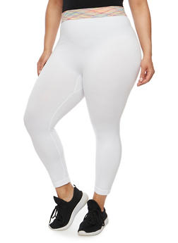 Plus Size Push Up Athletic Leggings - 1965061630184