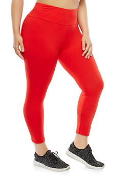 Plus Size Soft Knit Leggings - 1965061630799