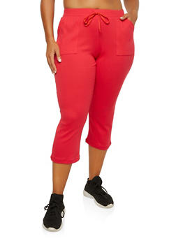 Plus Size Cropped Sweatpants - 1965062708826