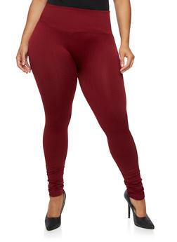 Plus Size Leggings in Patterned Knit - 1969001441162