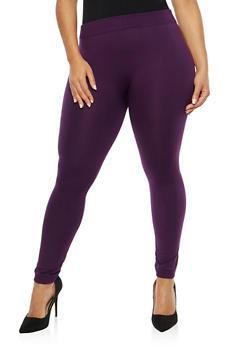 Plus Size Fleece Lined Leggings - 1969001441772