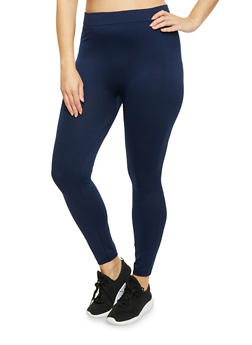 Plus Size Brushed Knit Leggings - 1969001447777