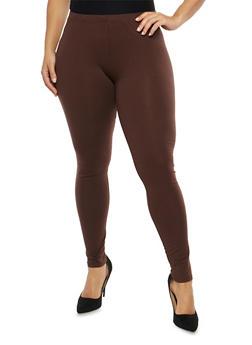 Plus Size Basic Leggings - 1969054266161