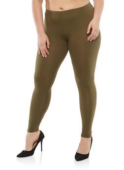 Plus Size Basic Black Leggings - 1969054266161