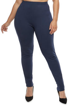 Plus Size Ponte Push Up Pants - 1969060580228