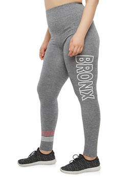 Plus Size Bronx Graphic Leggings - 1969061630009