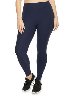 Plus Size Leggings in Brushed Knit - 1969061630060